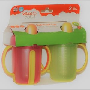 VITAL BABY Spill Proof cup 8 oz 2-pack